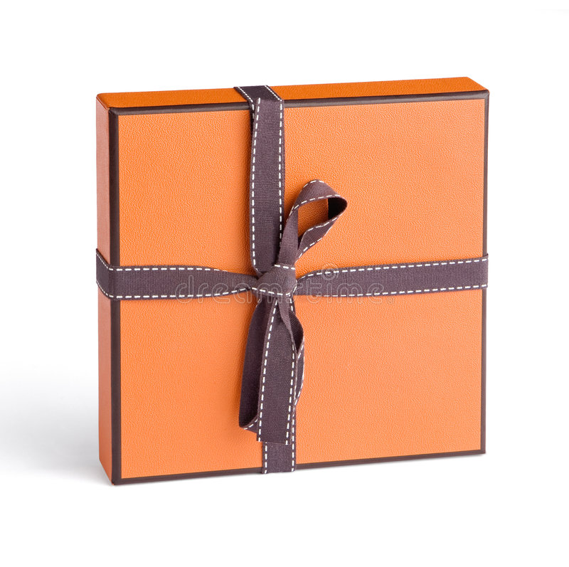Gift box. Isolated on the white background with clipping path royalty free stock photos