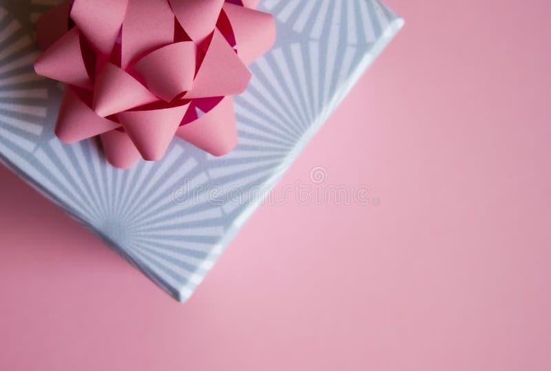 Gift box background stock photography