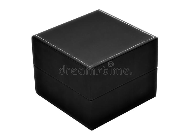 Gift box of black color royalty free stock photo