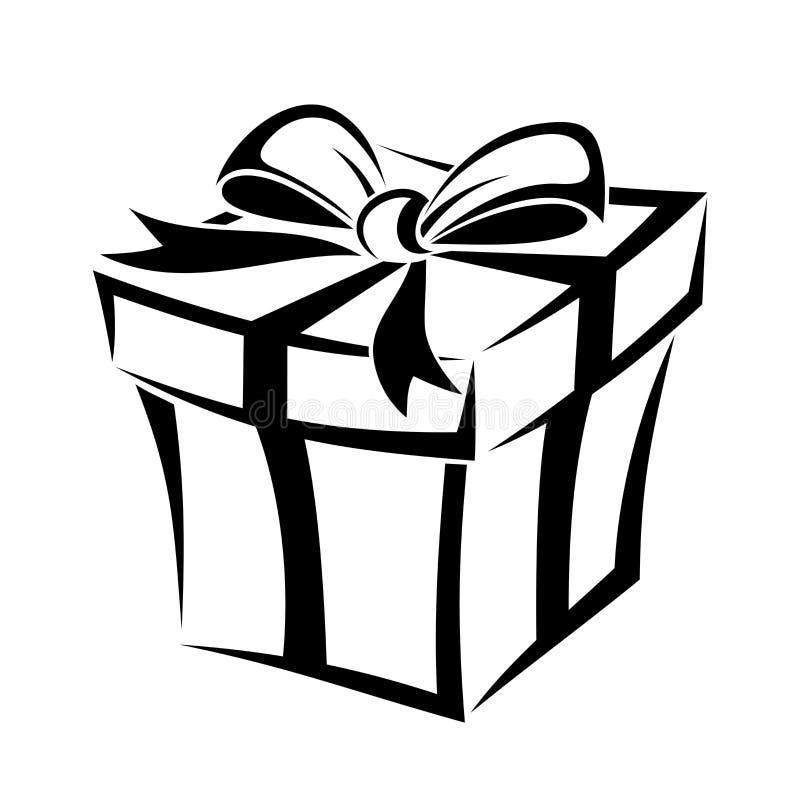 Gift Box. Black Silhouette. Stock Vector - Illustration of pack, festive: 35596564