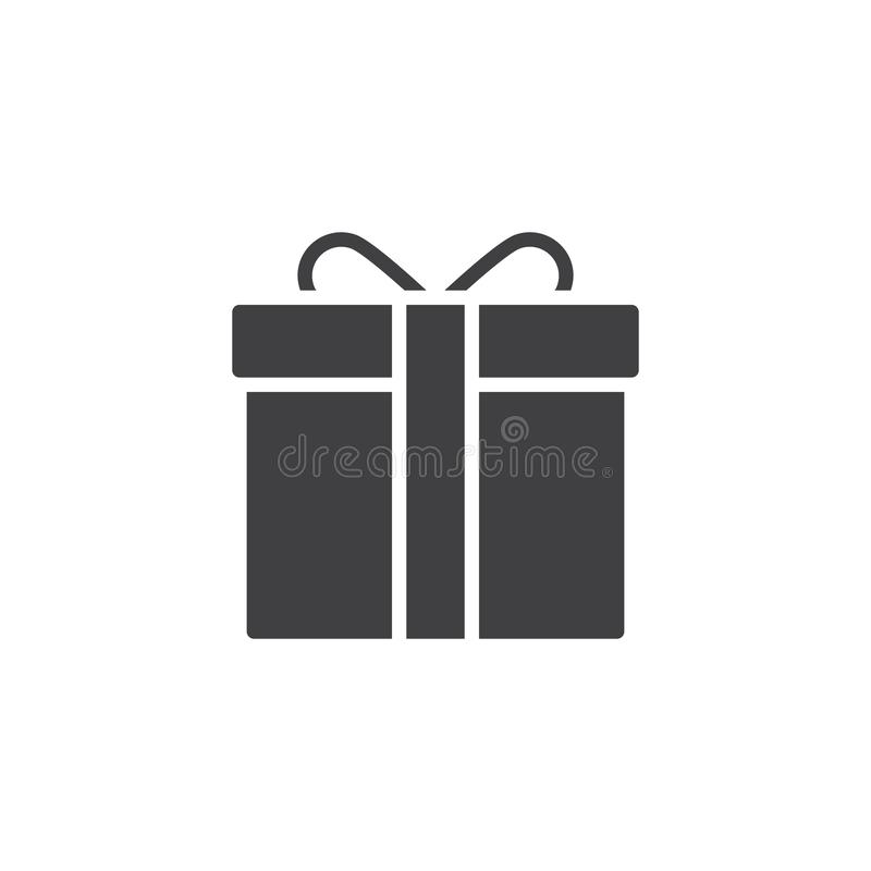 Gift Box With Bow And Ribbon Vector Icon Stock Vector ...