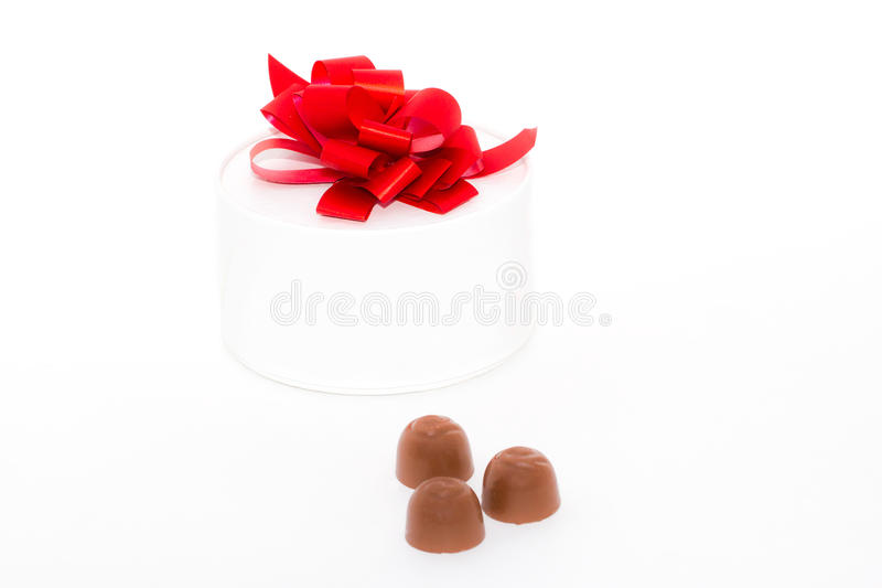 Gift Box And Candies. Stock Photography