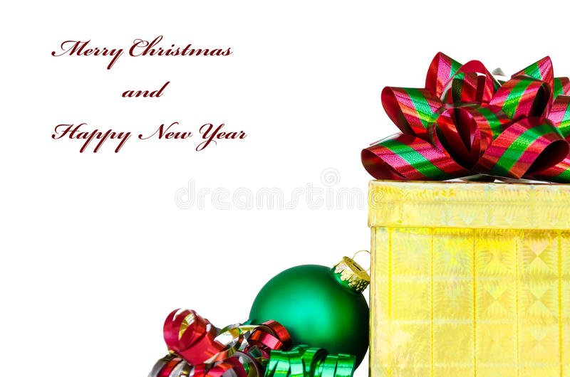 Download Gift Box And Christmas Ball - Holiday's Concept Stock Photo - Image: 33449162