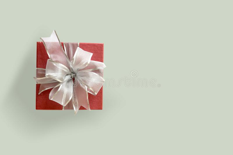 Gift box Christmas happy Holiday greeting card anniversary Chri. Stmas, new year, valentine day royalty free stock images