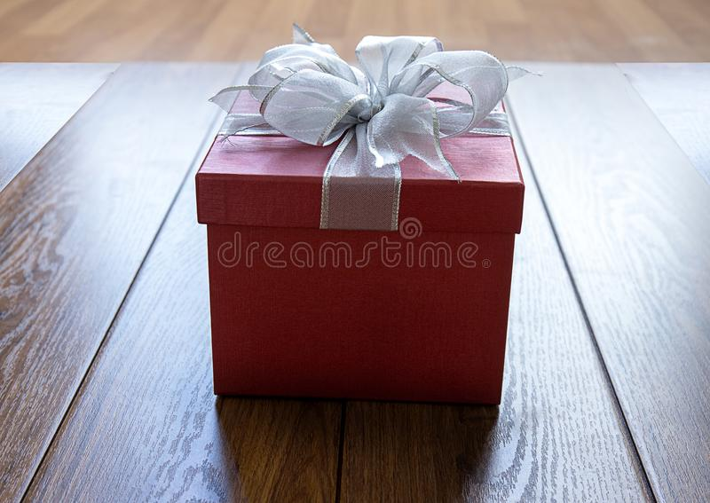 Gift box Christmas happy Holiday greeting card anniversary Chri. Stmas, new year, valentine day stock photos