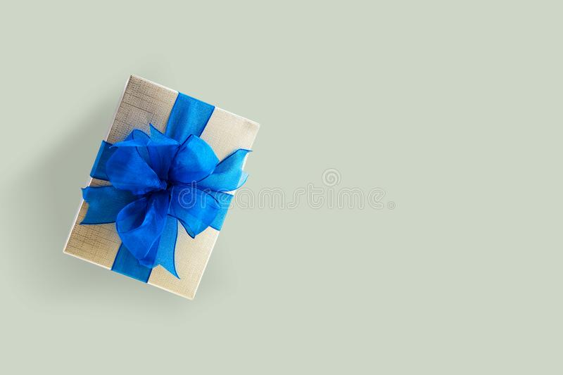 Gift box Christmas happy Holiday greeting card anniversary Chri. Stmas, new year, valentine day royalty free stock photo