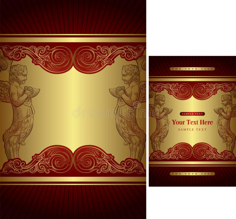 Gift Box Cover Template Stock Photos