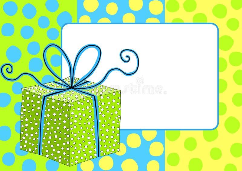 Gift Box Frame Border royalty free stock photos