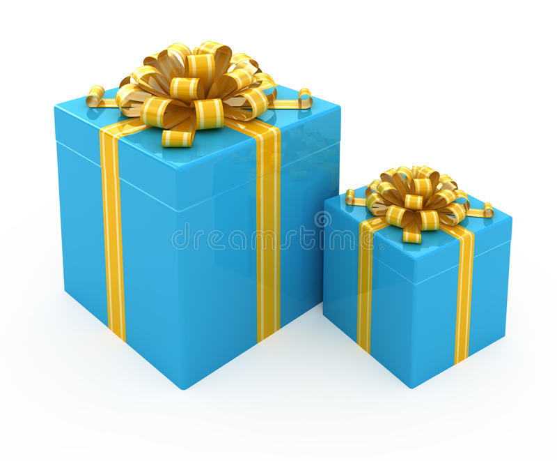 Download Gift Box With Golden Ribbon Stock Illustration - Image: 17643109