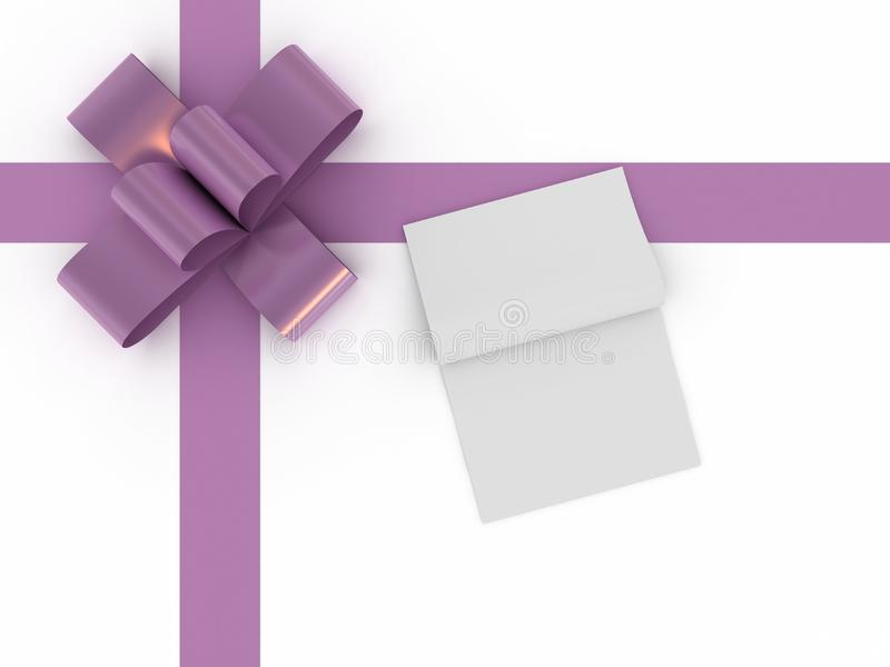 Gift box with a greeting card royalty free stock images
