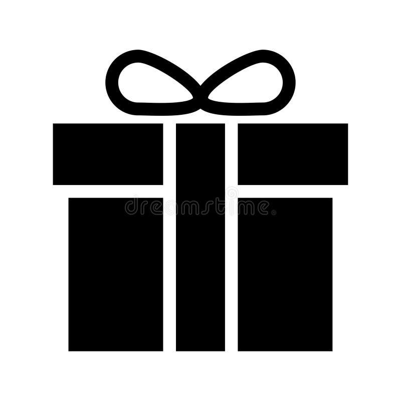 Gift box icon. Gift box glyph flat vector icon vector illustration
