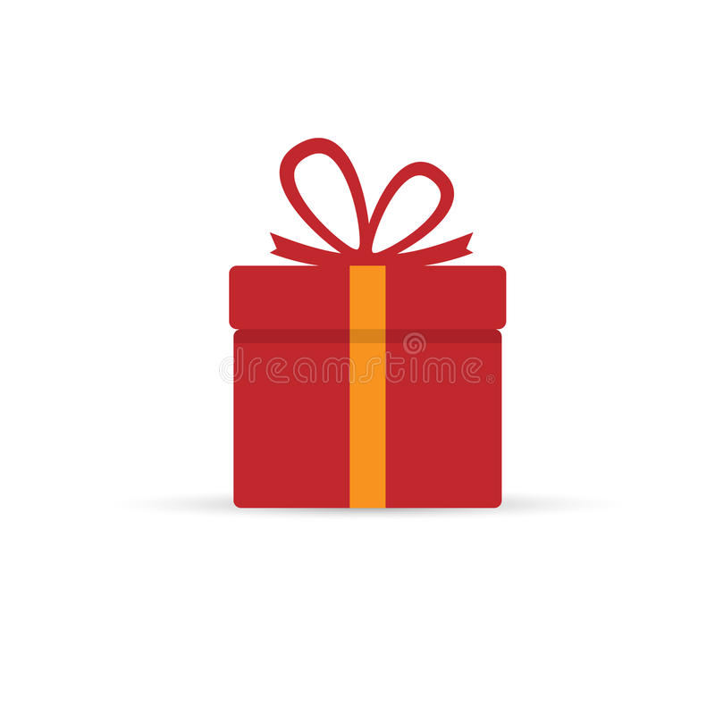 Gift Box. Isolated on background. Vector illustration. Eps 10 royalty free illustration