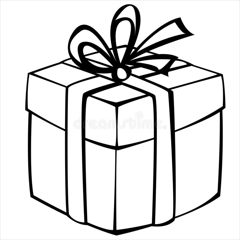 Gift Box Isolated On White Stock Vector. Illustration Of Sketch - 31564286