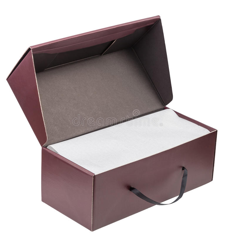 Gift box isolated on white. Background with clipping path royalty free stock photo