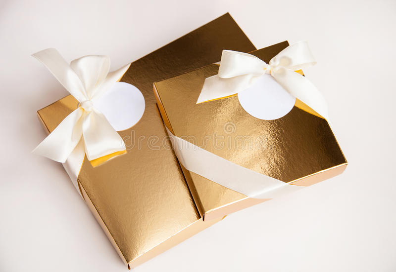 Gift box. On neutral background stock photo