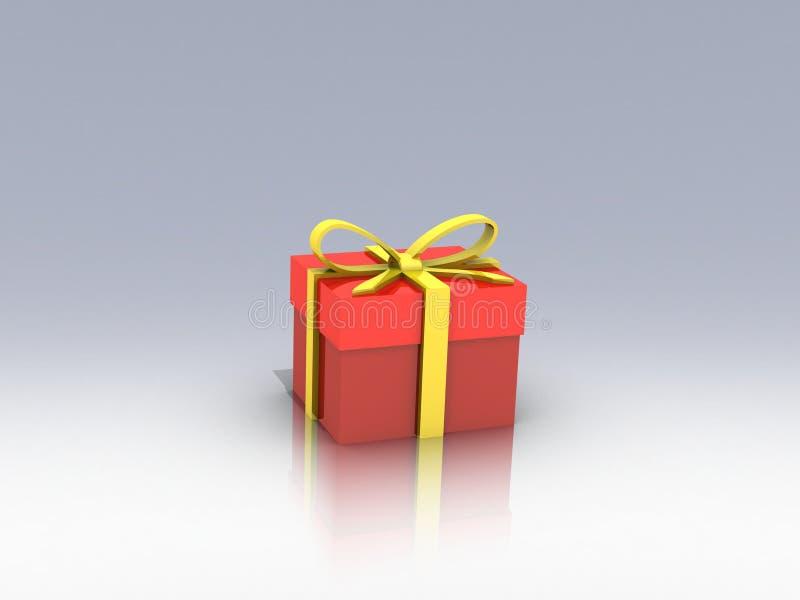 Gift box over background 3d illustration stock illustration