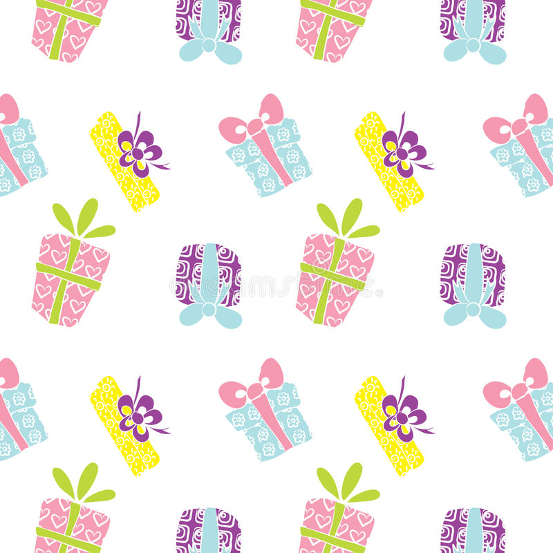 Gift box pattern royalty free stock photography