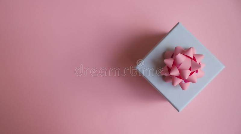 Gift box background stock photos