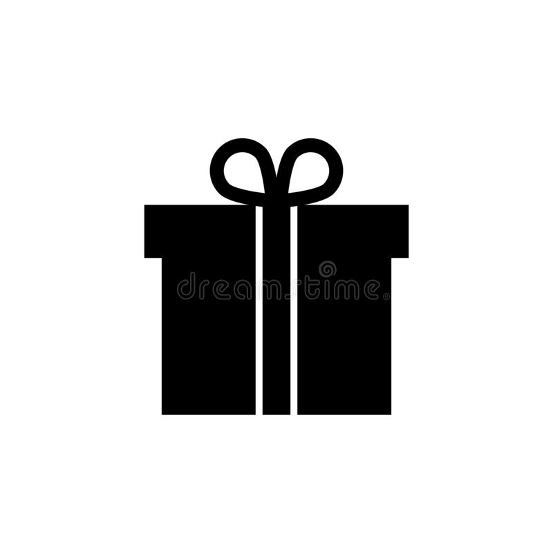 Gift box, present package icon. Signs and symbols can be used for web, logo, mobile app, UI, UX stock illustration