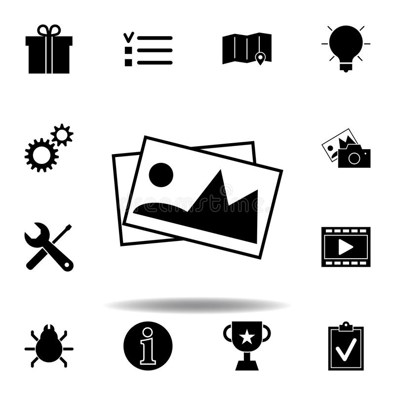 Gift box, present package icon. Signs and symbols can be used for web, logo, mobile app, UI, UX royalty free illustration