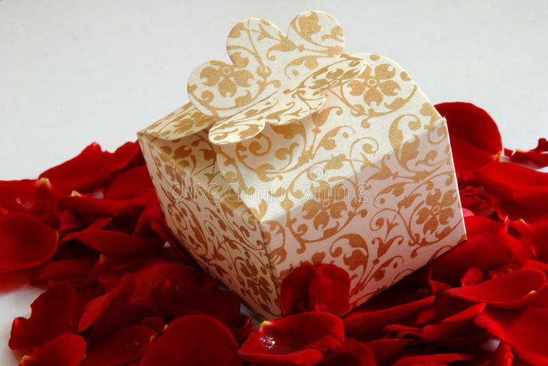 Download Gift box on red stock photo. Image of colorful, color - 20708326