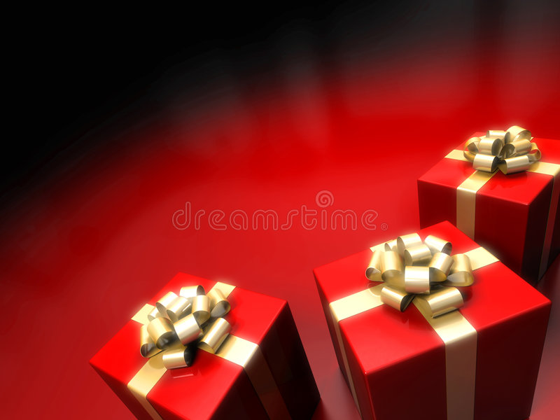 Gift box on red background royalty free stock image