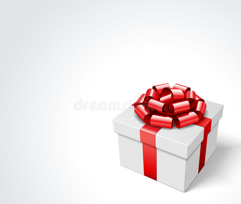 Download Gift Box With Red Bow Royalty Free Stock Photography - Image: 21272437