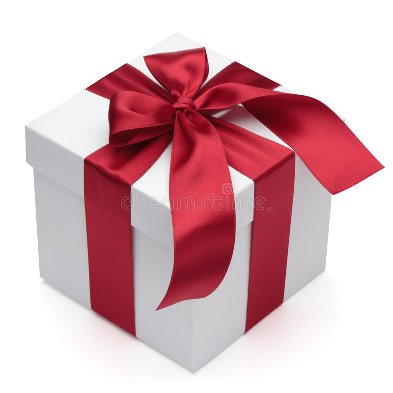 Download Gift Box With Red Ribbon And Bow. Stock Illustration - Image: 21625026