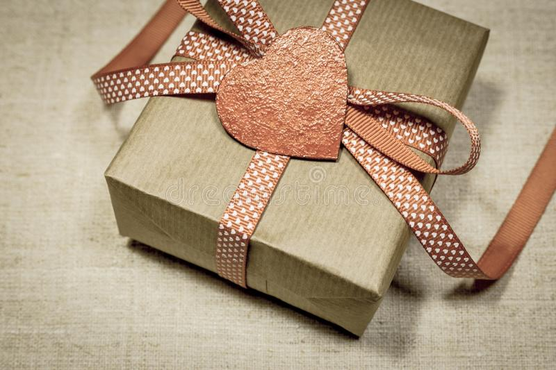 Valentine`s Day gift stock photography