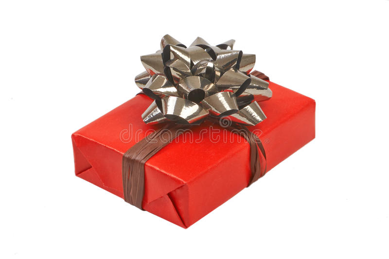 Gift box with ribbon bow royalty free stock photo