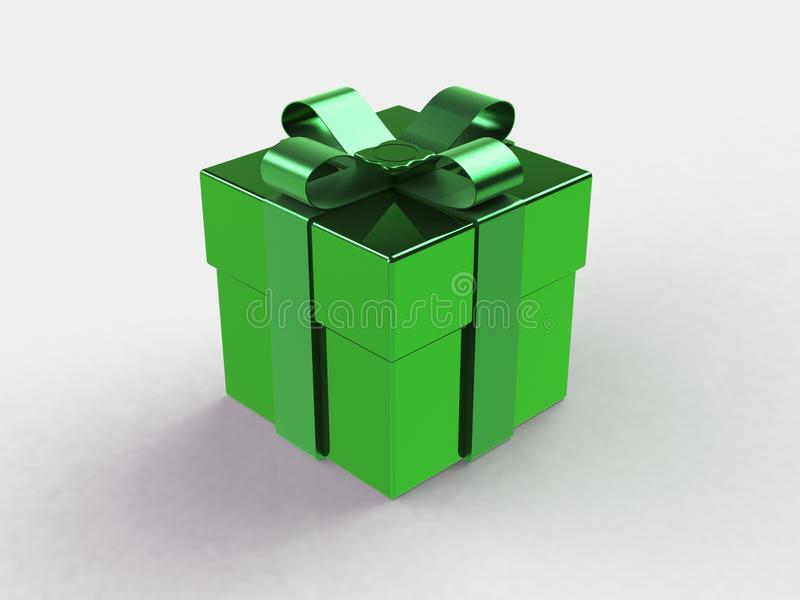 Gift box, with ribbon like a present over white background vector illustration