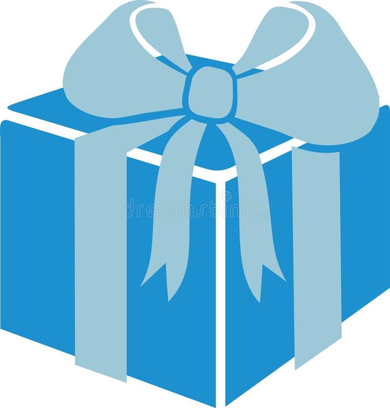 Gift box with ribbon stock illustration