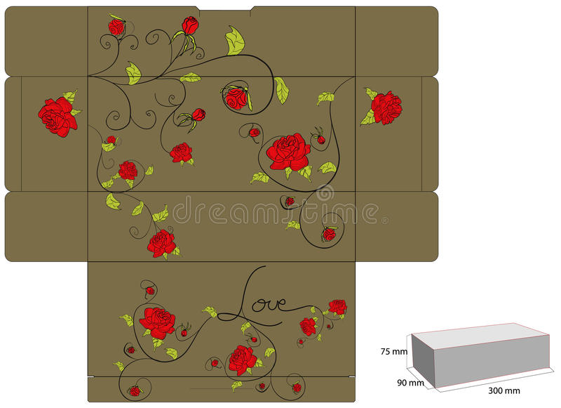 Gift box with rose
