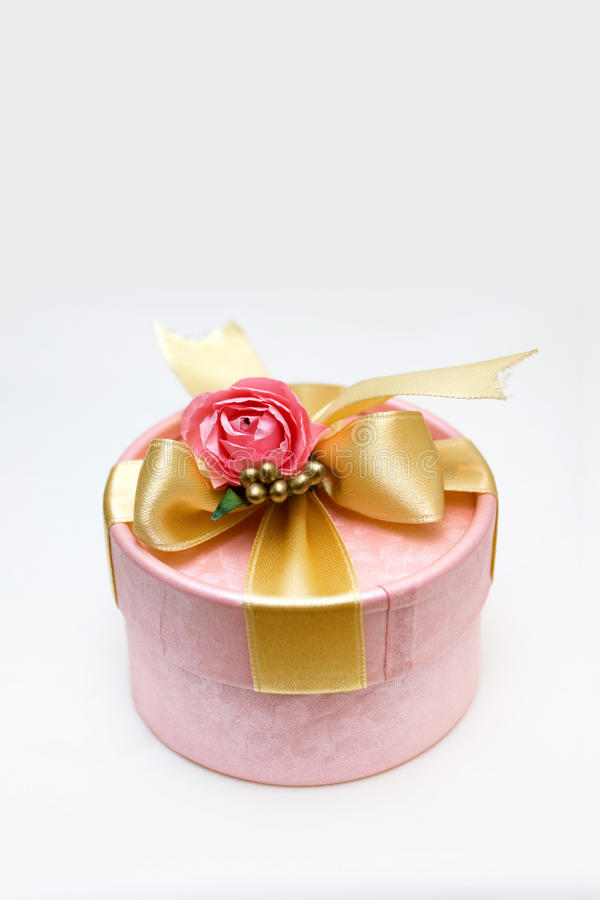 Download Gift box with rose stock image. Image of golden, celebrate - 12896713