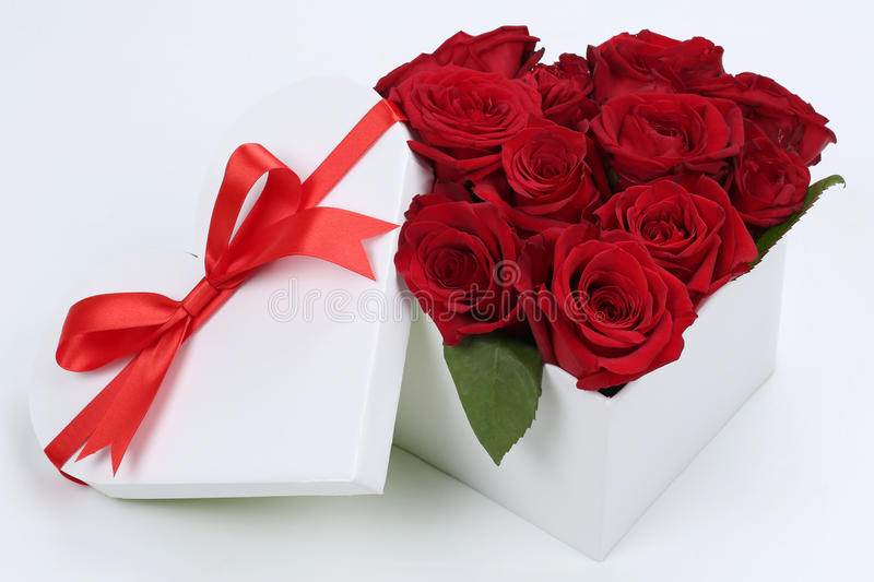 Roses Valentine S Day With Stuff Toys : Gift box with roses for birthday gifts valentine s or
