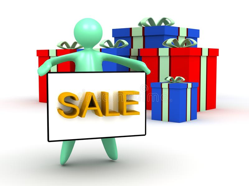 Gift box sale stock images