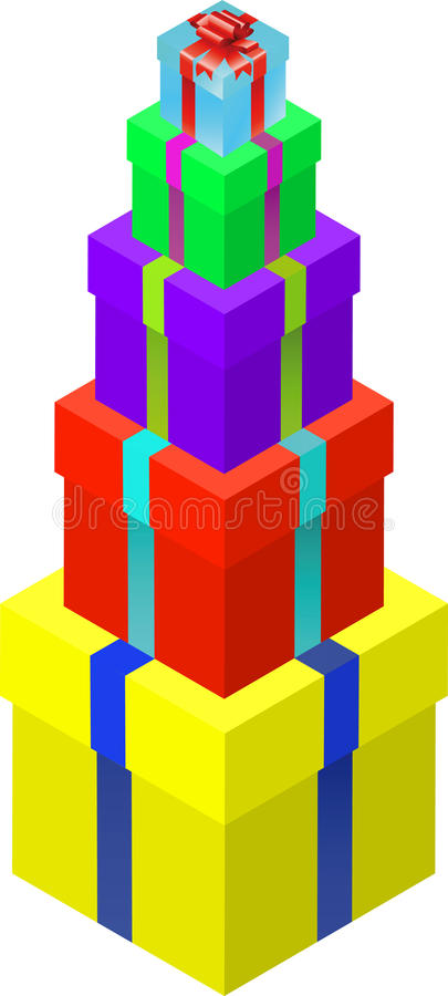 Download Gift box set stock vector. Image of colorful, pattern - 14100013
