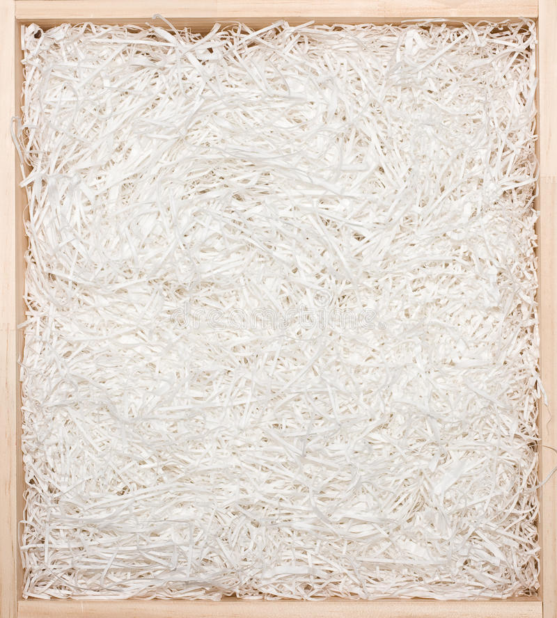 Download Gift Box With Shredded Paper Royalty Free Stock Images - Image: 10954759