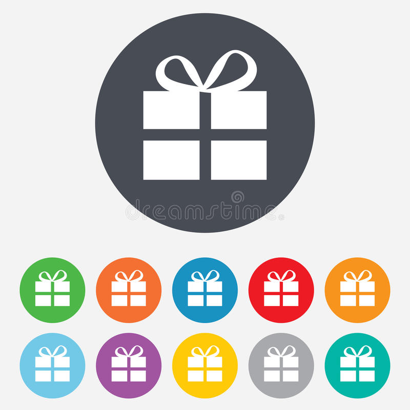Free Gift Box Sign Icon. Present Symbol. Royalty Free Stock Images - 36728959