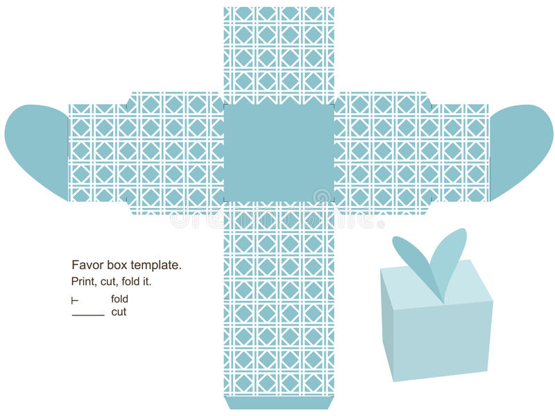 Gift Box Template Stock Vector Illustration Of Instructions 26401586
