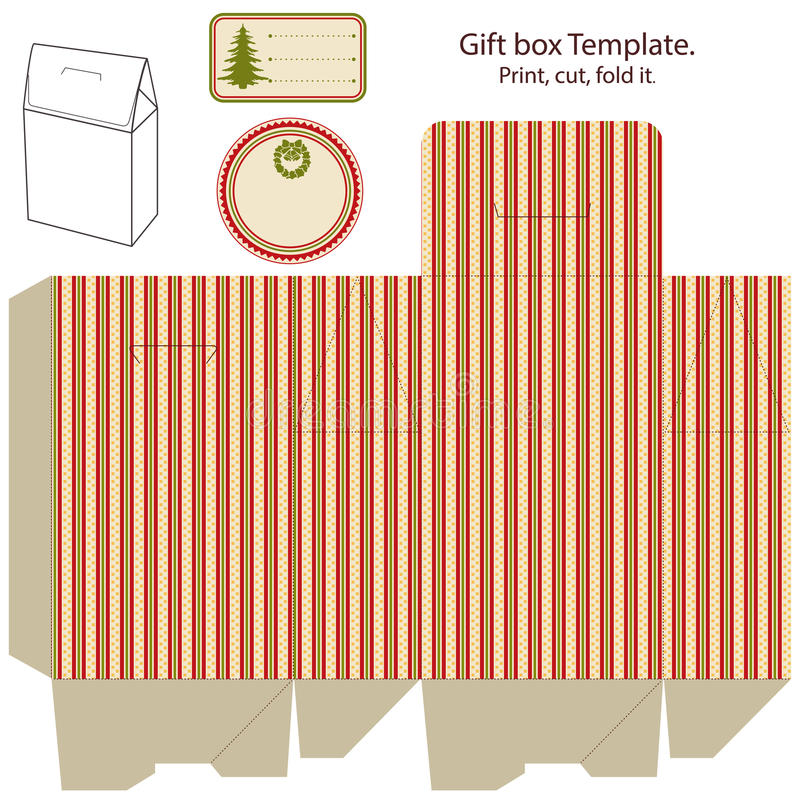 Download Gift box template. stock vector. Illustration of branding - 27036291