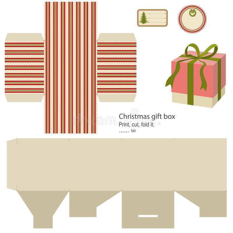 Gift box template. stock illustration