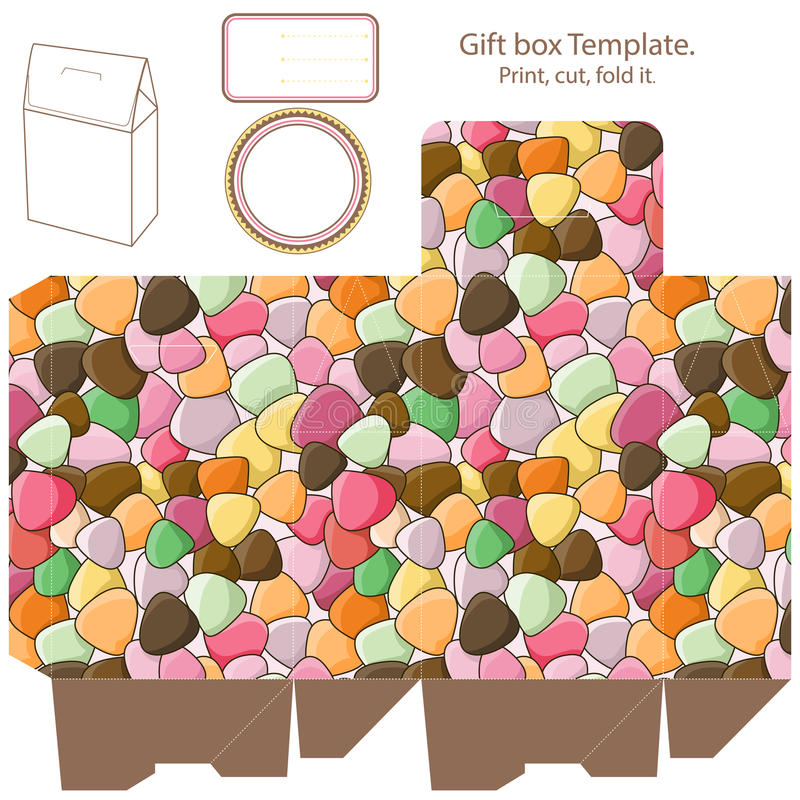 Gift box template vector illustration