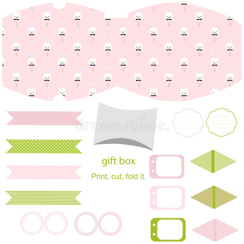 Gift box template easter party set stock vector illustration of download gift box template easter party set stock vector illustration of fold empty negle