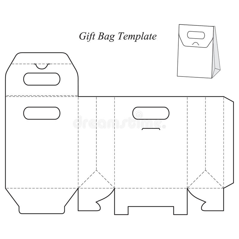 Gift box template with lid stock vector. Illustration of fashion ...
