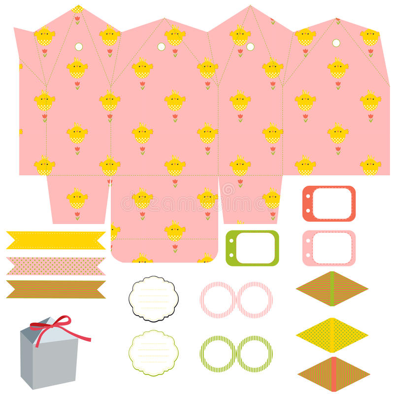 download gift box template party set stock vector illustration of label easter 66711362