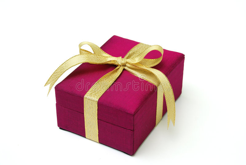 Gift box - Thai silk royalty free stock images