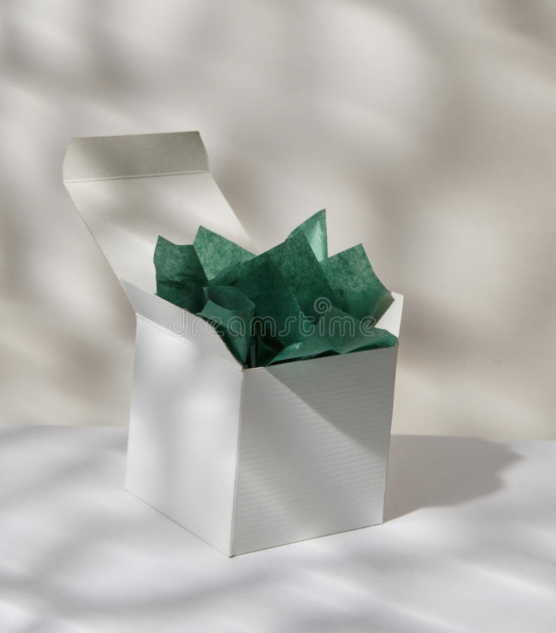 Download Gift Box With Tissue Paper Stock Photo - Image: 28812040