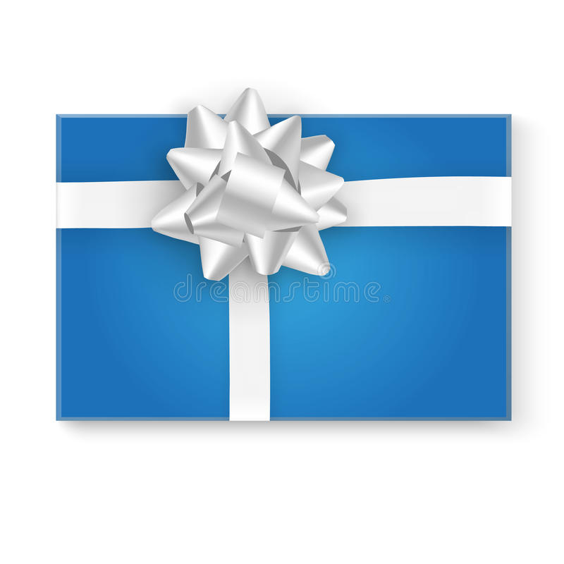 Gift box top view vector illustration