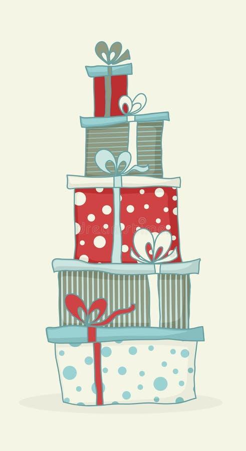 Gift box tower royalty free illustration